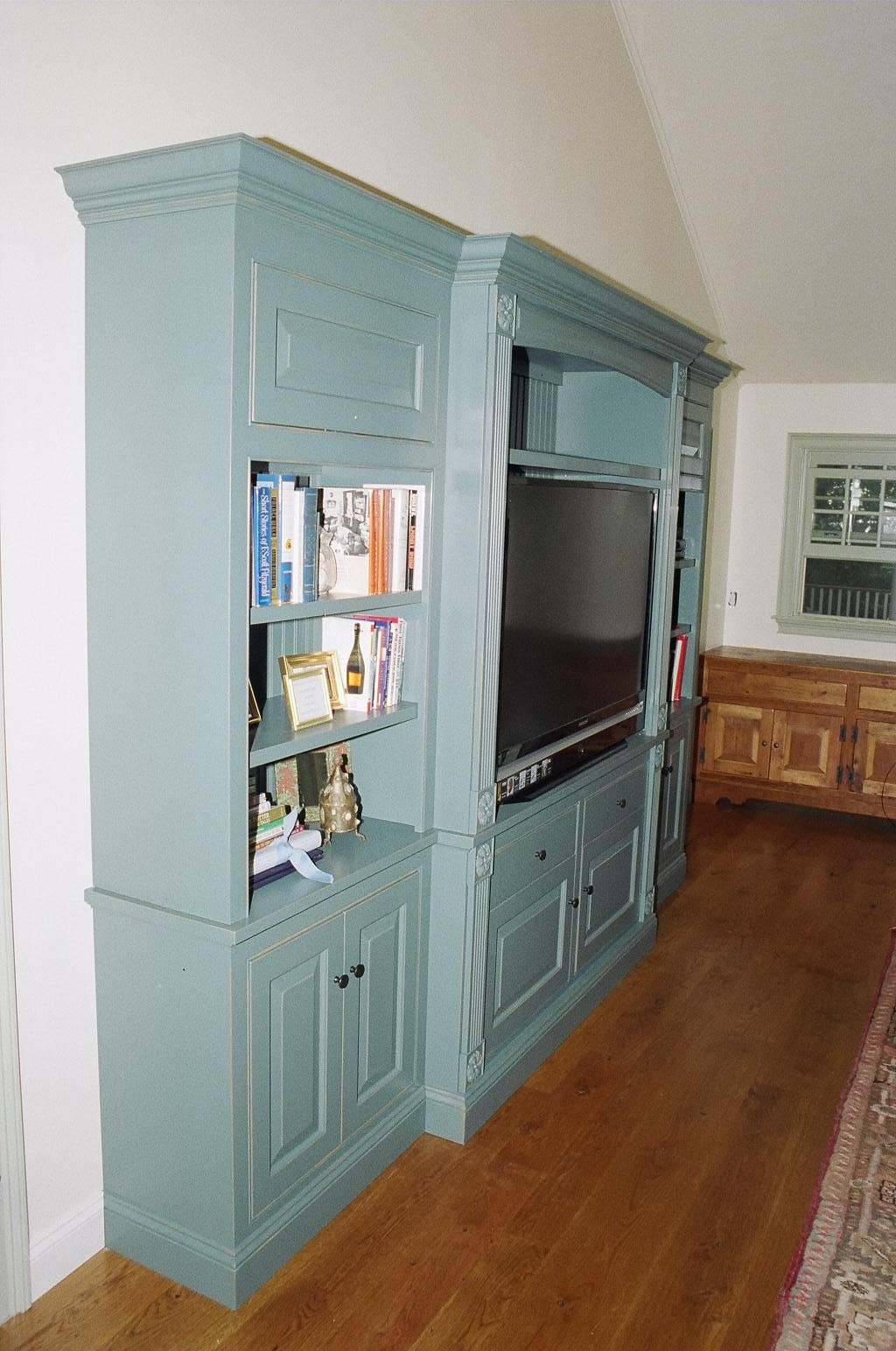 Free Standing Maple Tv Cabinet Walterswoodworking Com