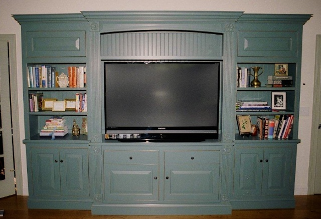 Free-Standing Maple TV Cabinet