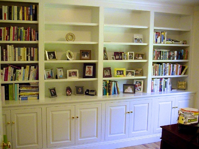 Bookshelves with Base Cabinet