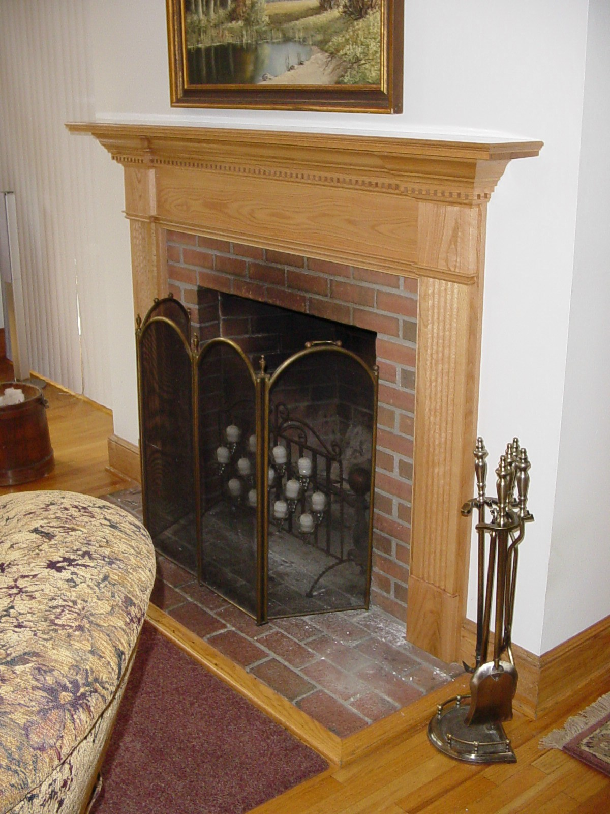 Red Oak Mantel Walterswoodworking Com