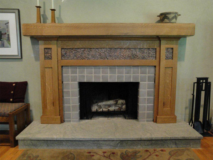 Arts And Crafts White Oak Mantel