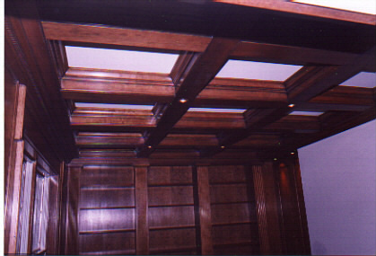 Library/coffered ceiling