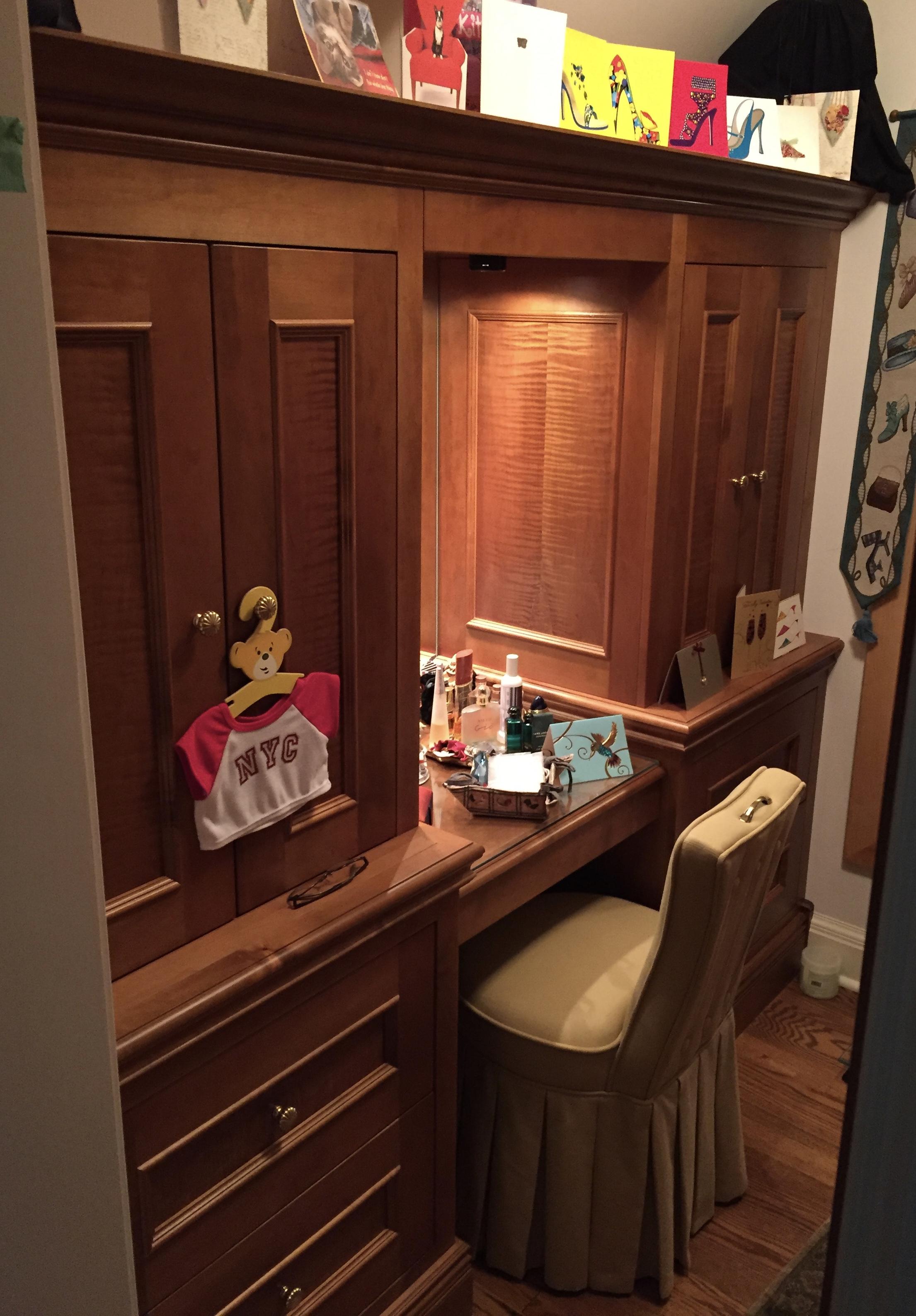 Bedroom closet Cabinetry