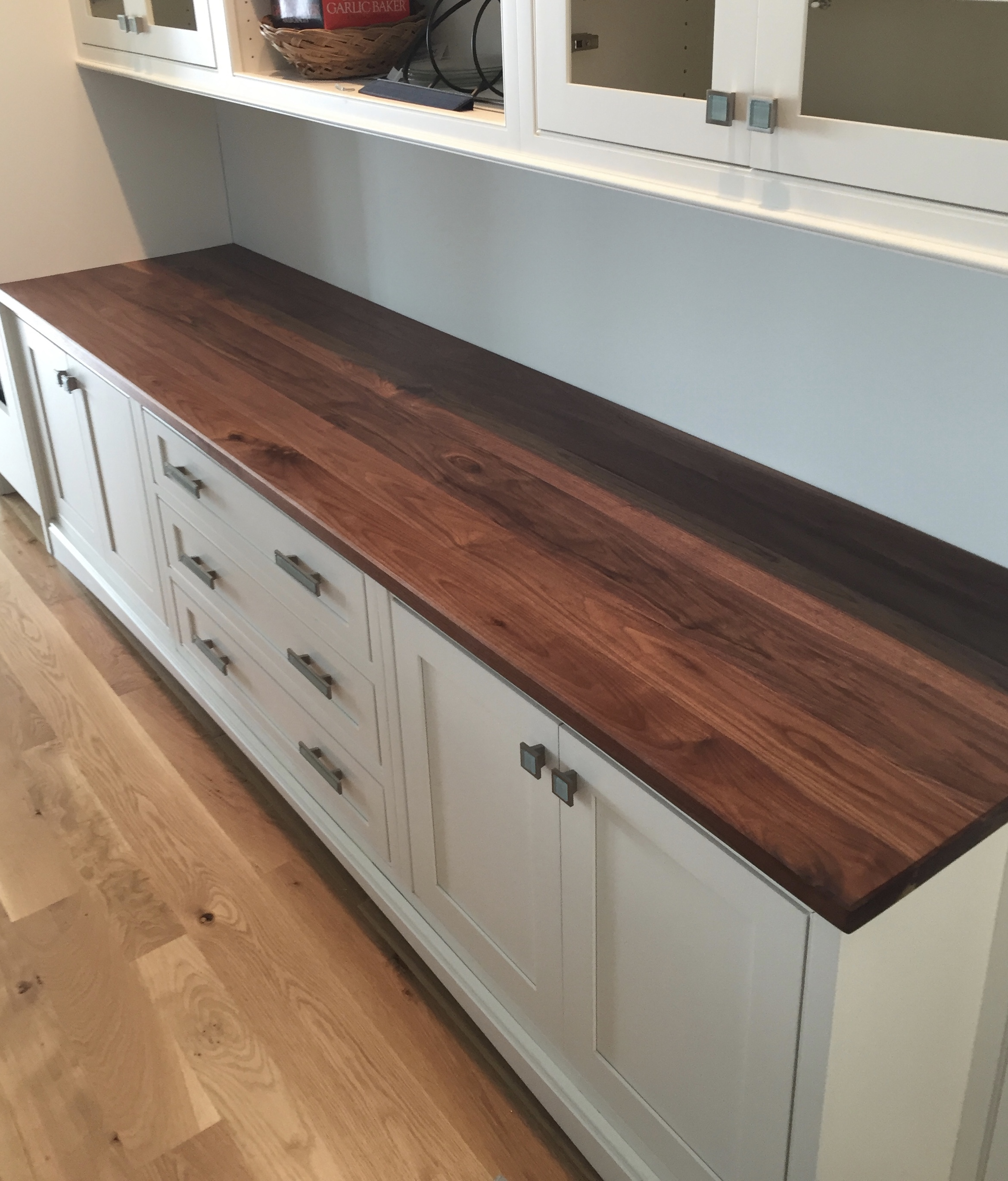 Walnut counter top