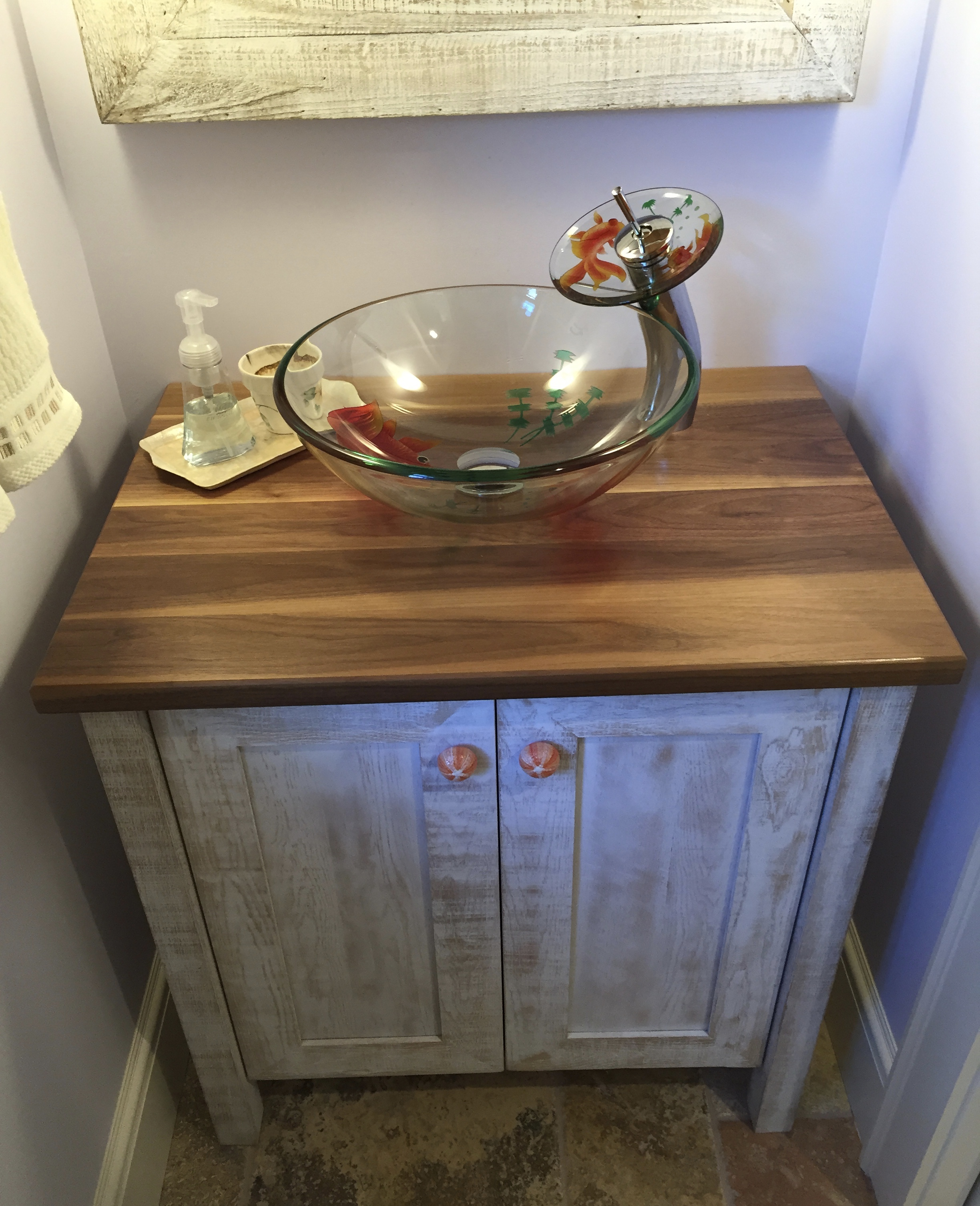 Rough Sawn Oak Vanity