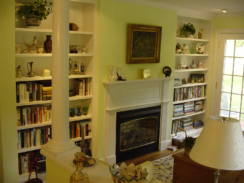 Flanking Bookcases