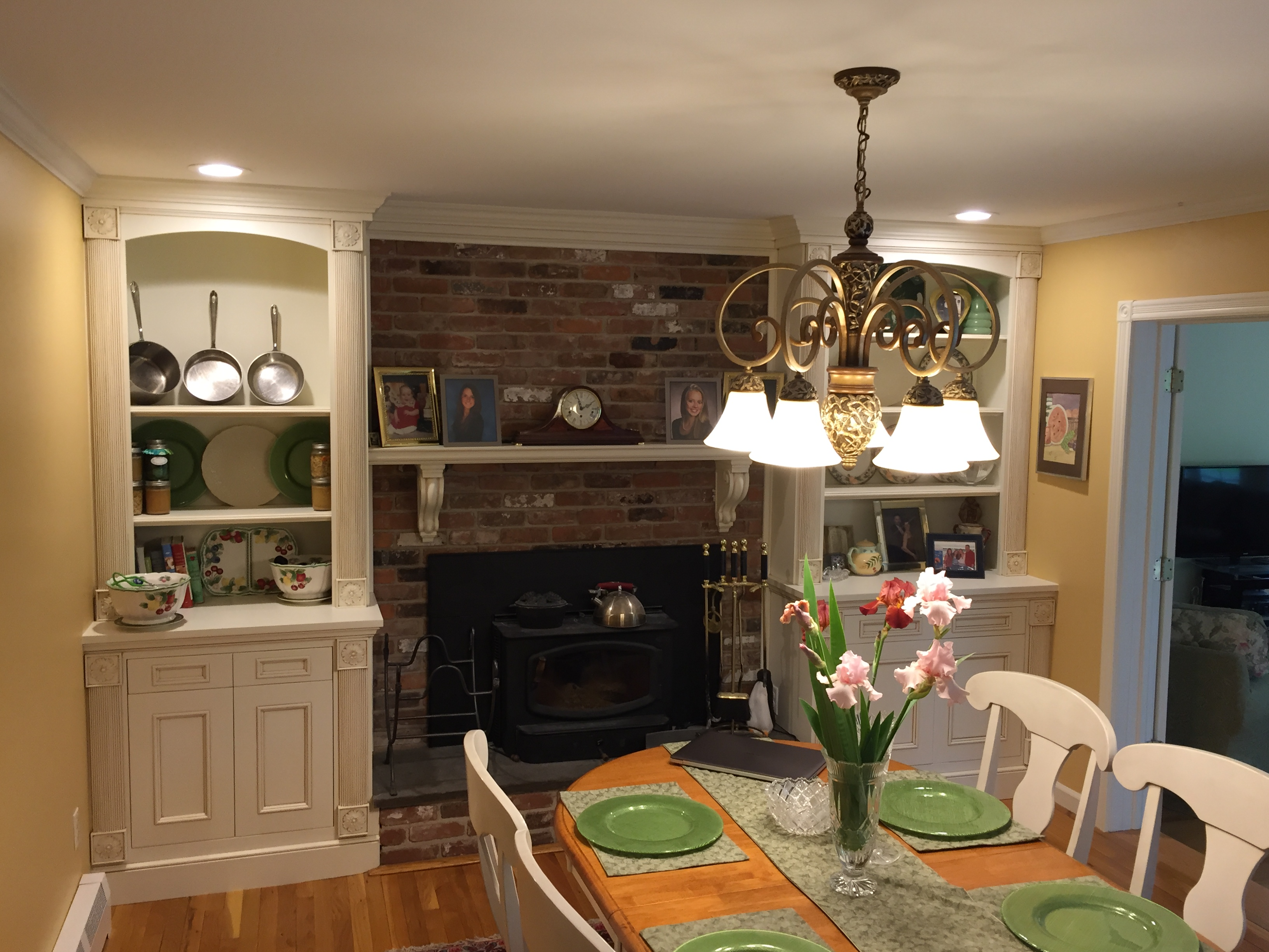 Dinning Room Cabinetry And Mantel