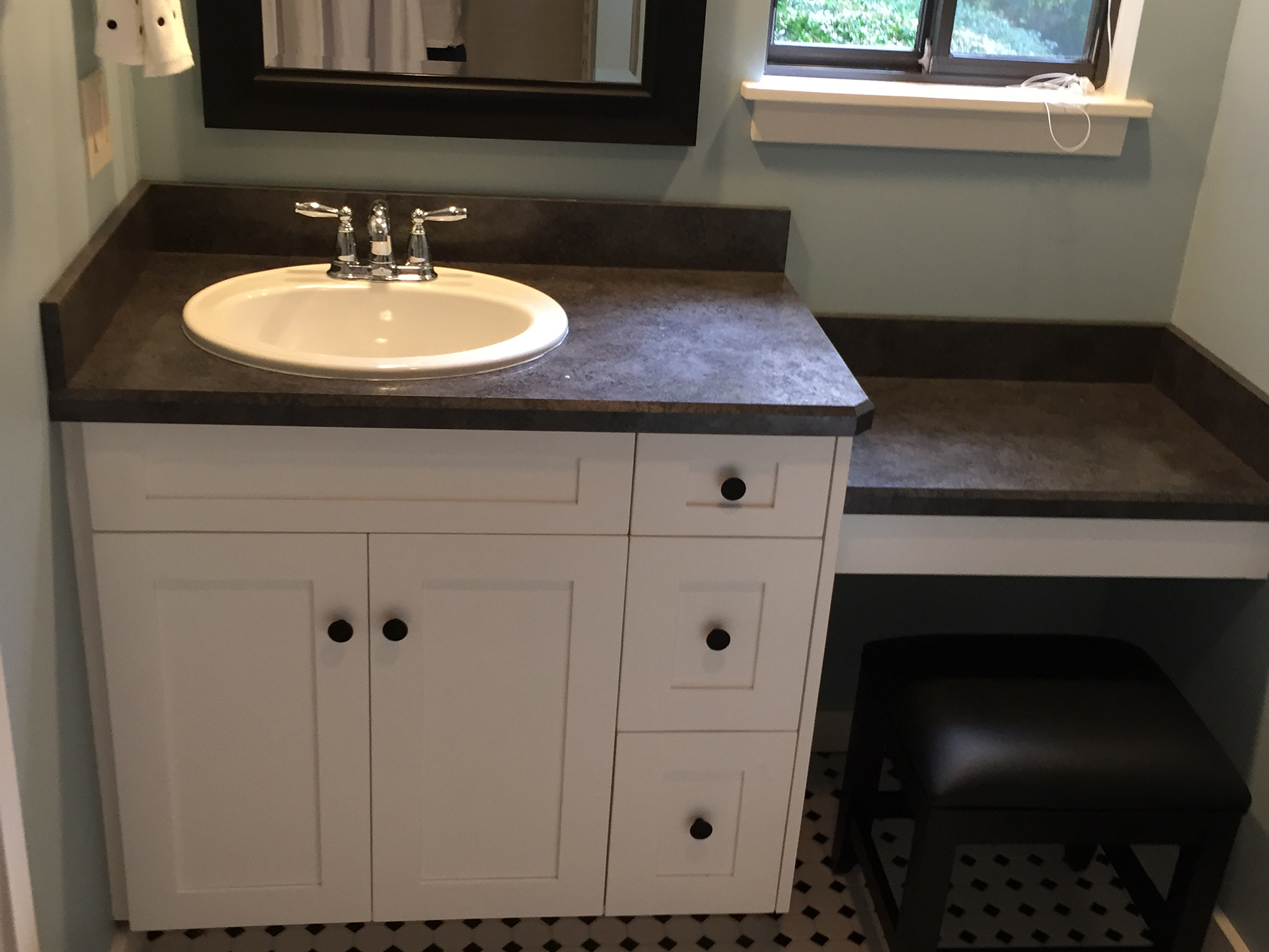 Bathroom vanity and make up table