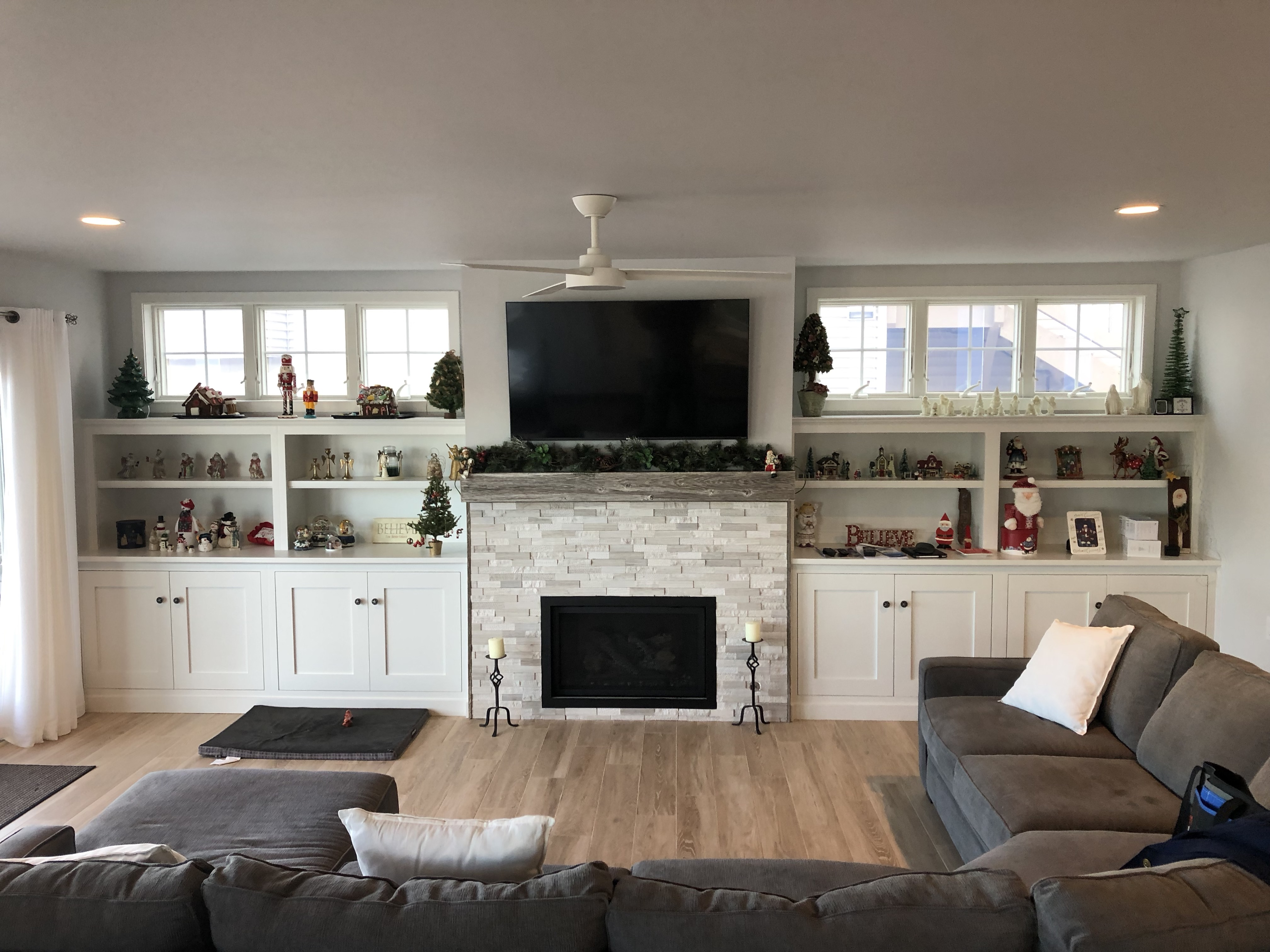 Family Room Cabinetry and Mantel