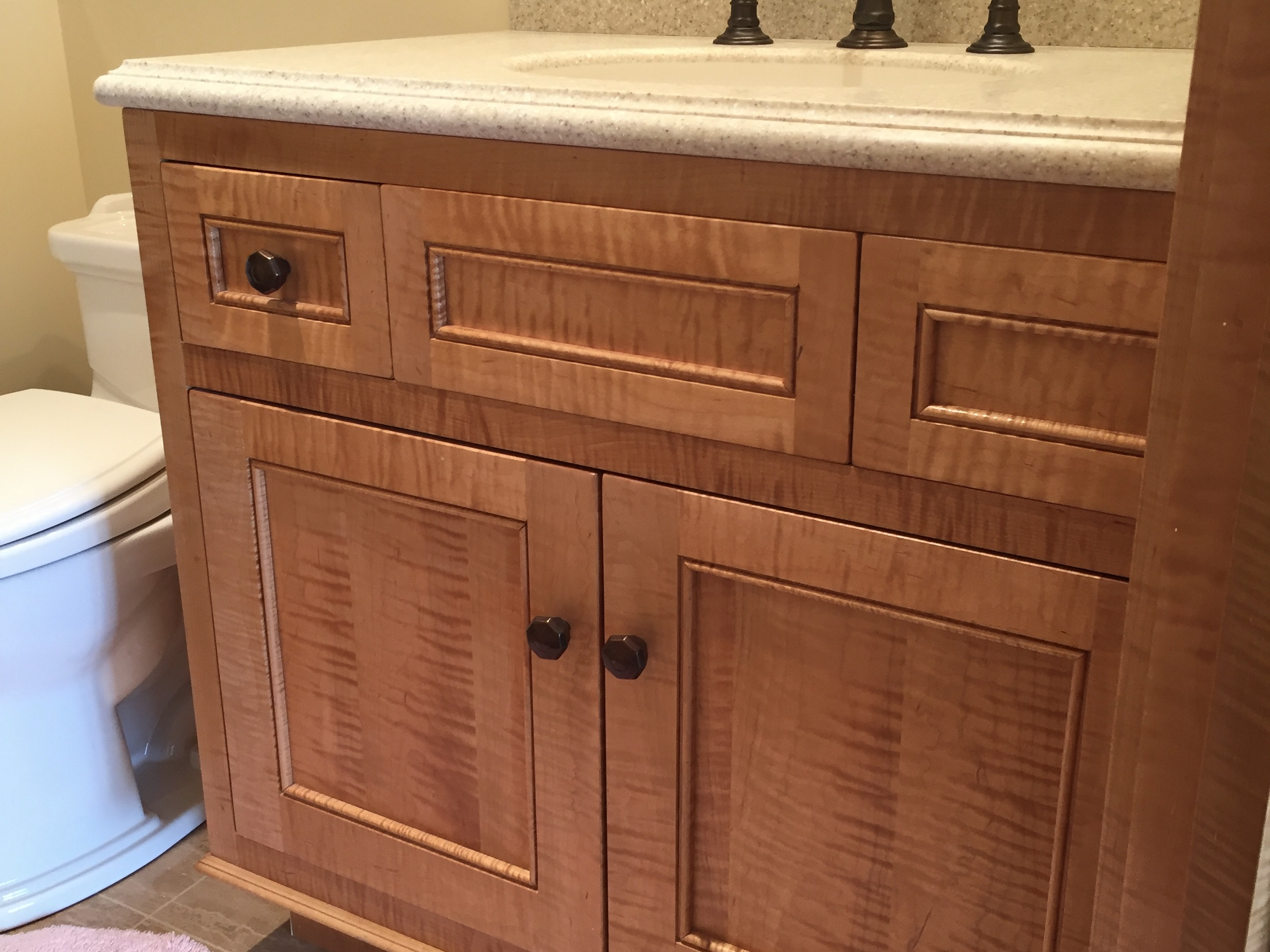 Figured maple Bathroom Vanity